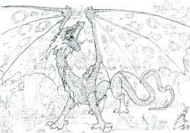 Dragon Coloring Pages Realistic Fairy And Dragon Coloring Pages