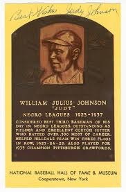 Postcard of Judy Johnson Baseball Hall of Fame plaque | National Museum of  African American History and Culture