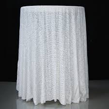 90 inch round white sequin tablecloth overlay