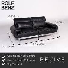 Rolf Benz Designer Leder Sofa Dunkelblau Zweisitzer Couch 8765