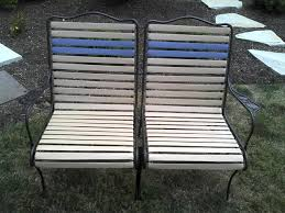 helen raines from maryland used our 1 5 precut vinyl straps on her woodard patio furniture