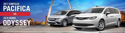 2017 Chrysler Pacifica Vs. 2018 Honda Odyssey In St. Louis, MO