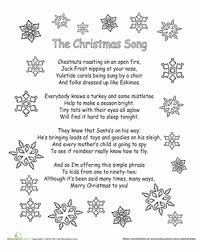 Color the Carol: The Christmas Song | Worksheet | Education.com