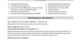 Resume Format For Quality Engineer Resume Format Quality Engineer Resume Templates
