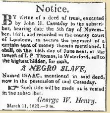 waterford s african american experience and timeline waterford slave auction notice