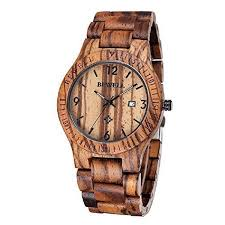 sililun coffee color maple wooden men s watch