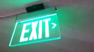 Edge Lit Exit Light Morris Products Generic Edge Lit Exit Sign Youtube