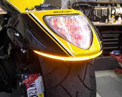 suzuki m led rear led turn signal fender kit from new rage cycles m109 led fender eliminator turn signal kit