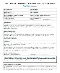 Job Performance Review Samples Employee Performance Review Template Luxury Hr Annual Simple Basic