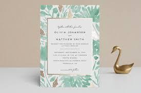 Wedding Invitations Watercolor Watercolor Delight Foil Pressed Wedding Invitations By Petra Kern