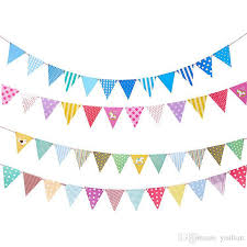 Triangle Banner 2019 New Naval Wind Boat Anchor Triangle Banner Diy Floral Ornament Party Decorative Color Bars Party Suppliesy Bf003 Banner Flags From Yisilian