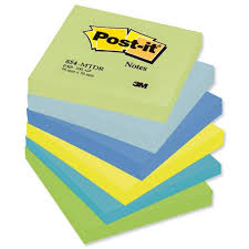 Image Pkg Description Nice Guys Office Supplies Pu003epost It Colour Notes Pad Of 100 Sheets 76x76mm Cool Neon Rainbow