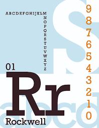 Typography I - Dustin Woods - Rockwell Specimen   Umass Lowell   Flickr