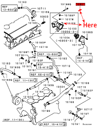 This image shows location of this item mitsubishi part number