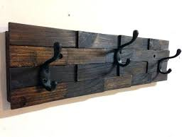 Wood Coat Rack Wall Mount Interesting White Wall Coat Rack 32 Hook Wall Mounted Coat Rack White Wood Wall
