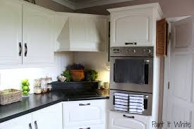 painted white cabinetsAnnie Sloan Chalk Paint In Old White Wood Kitchen Cabinet Update