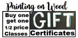 Gift Certificate Sign Wood Painting Gift Certificates Buy One Get One Half Price Last
