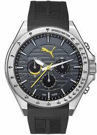 men s puma forward black and yellow chronograph silicone watch men s puma forward black and yellow chronograph silicone watch pu104021002