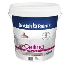 white ceiling paintBritish Paints 10L Flat White Ceiling Paint  Bunnings Warehouse