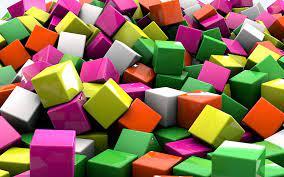 Colorful cubes wallpaper - 3D ...