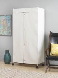 home decor whitmor canvas cover for supreme garment rack u2016 intended for covered garment