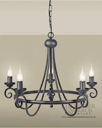 nu contemporary 5 light black chandelier