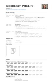 Delightful Design Machine Operator Resume Resume Template Cnc