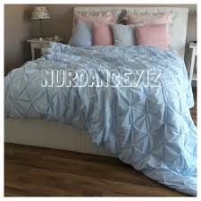 ruched diamond pintuck duvet cover