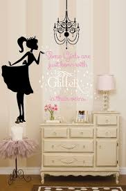 ballerina wall decal glitter wall decal
