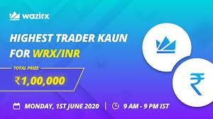 See the bitcoin exchange rate i.e. Highest Trader Kaun Wrx Inr Monday 1st June 9 Am 9 Pm Ist By Wazirx Bitcoin Exchange Wazirx Medium