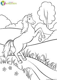 Kleurplaten Paarden In Galop
