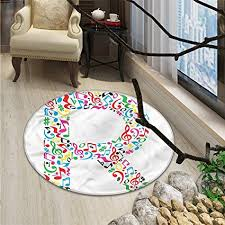 Creative Kitchen Design Inspiration Amazon Letter R Round Area Rug Carpet Cool And Creative Arts