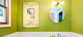minimalist bathroom blueprints canvas wall art