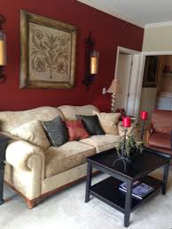 For other large surfaces — such as walls, window treatments, floors and furniture — stick with white, black and white, or a monochromatic range of. Deep Red Accent Wall Red Living Room Walls Burgundy Living Room Beige Living Rooms