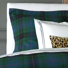 tartan plaid bedding inspired by traditional isle of tartans this is woven from yarn dyed linen tartan plaid bedding