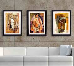 wall art decor gray stain framed wall art for living room frame pertaining to current on framed wall art decor with image gallery of contemporary framed art prints view 4 of 15 photos