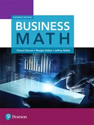 Cleaves Hobbs Noble Business Math Rental Edition 11th Edition