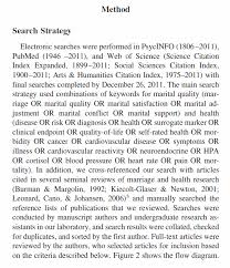 "apa style blog how do i cite a search in apa style  from ""marital quality and health a meta analytic review "" by t f robles r b slatcher j m trombello and m m mcginn 2013 psychological bulletin"
