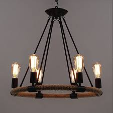 industrial farmhouse lighting. Brilliant Farmhouse BAYCHEER HL371768 Industrial Retro Vintage Style With 3937 Inch Length  Chain Rope 6 Lights Chandelier Pendant Light Lamp Use E2627 Bulb Throughout Farmhouse Lighting D