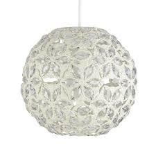 shabby chic pendant lighting. Contemporary Moroccan Style Shabby Chic Cream Metal Jewelled Ball Ceiling Pendant Light Shade: Amazon.co.uk: Lighting