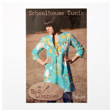 Tunic Top Patterns Delectable Sew Liberated Schoolhouse Tunic Pattern Discount Designer Fabric