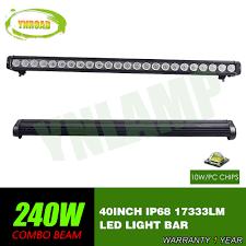40 Inch Light Bar Us 183 75 25 Off Ynroad 40inch 240w Single Row Led Light Bar Driving Offroad Light Spot Flood Combo 10v 70v 17333lm For 4x4 Atv Utv Use Ip68 In