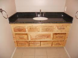 wine crate furniture. custom wine crate bathroom vanity modernbathroom furniture