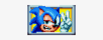 a frame from the sonic mania sign post pixel art sonic mania tails