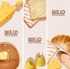 Bread Fresh Bakery Background Design Vector Illustration Royalty