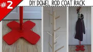 Coat Rack Part DIY Dowel Rod Coat Rack Part 100 of 100 YouTube 4