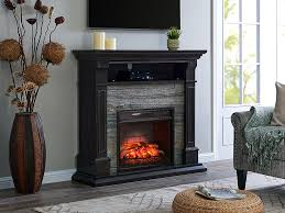 jayben electric infrared fireplace mantel package in smoked ash fi9358