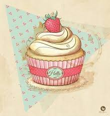 vintage cupcakes drawing. Beautiful Cupcakes Iu0027d Like It Better Without The Strawberry On Top To Vintage Cupcakes Drawing S