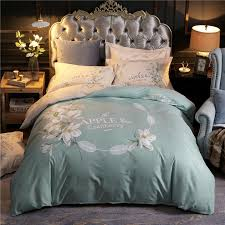 Cheap Duvet Set 100 Cotton Floral Print Bedding Set Queen King Size Duvet Cover Bedsheets Pillowcase Modern Home Apartment Farm House Decor