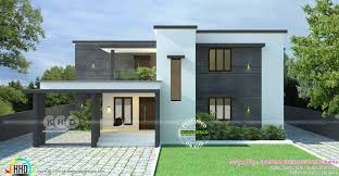 Simple Square House Design Simple Flat Roof Style Modern Home 1650 Sq Ft Kerala Home